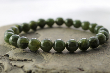 mens nephrite jade stretch bracelet
