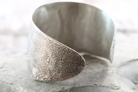 elliptical sterling silver cuff
