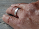mens hammered sterling silver wedding band