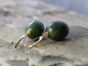 faceted Canadian nephrite jade earrings