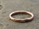 artisan recycled 14k rose gold hammered wedding ring
