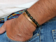 mens jade and copper stacking bracelet