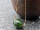nephrite jade drum bead necklace