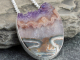amethyst druzy egg statement necklace w/ sterling silver