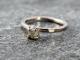 rough diamond & 14k white gold engagement ring