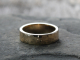rustic mens wide artisan hammered 14k gold wedding ring