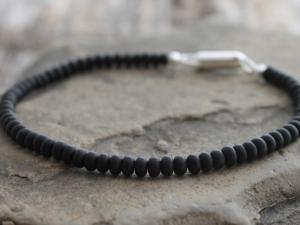 zen matte black onyx bracelet