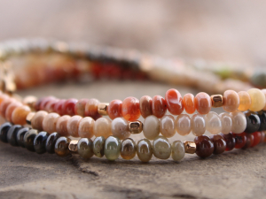 mbre opal wrap bracelet w/ Peruvian and Mexican opals & gold filled accents