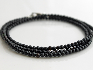 black tourmaline wrap bracelet