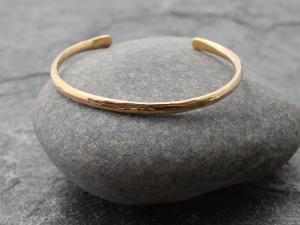 hammered 14k gold cuff bracelet