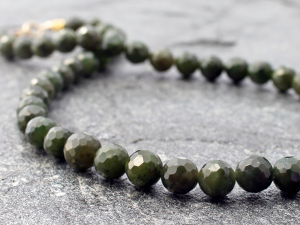 faceted canadian nephrite jade & gold necklace