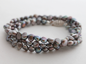 silver baroque freshwater pearl necklace