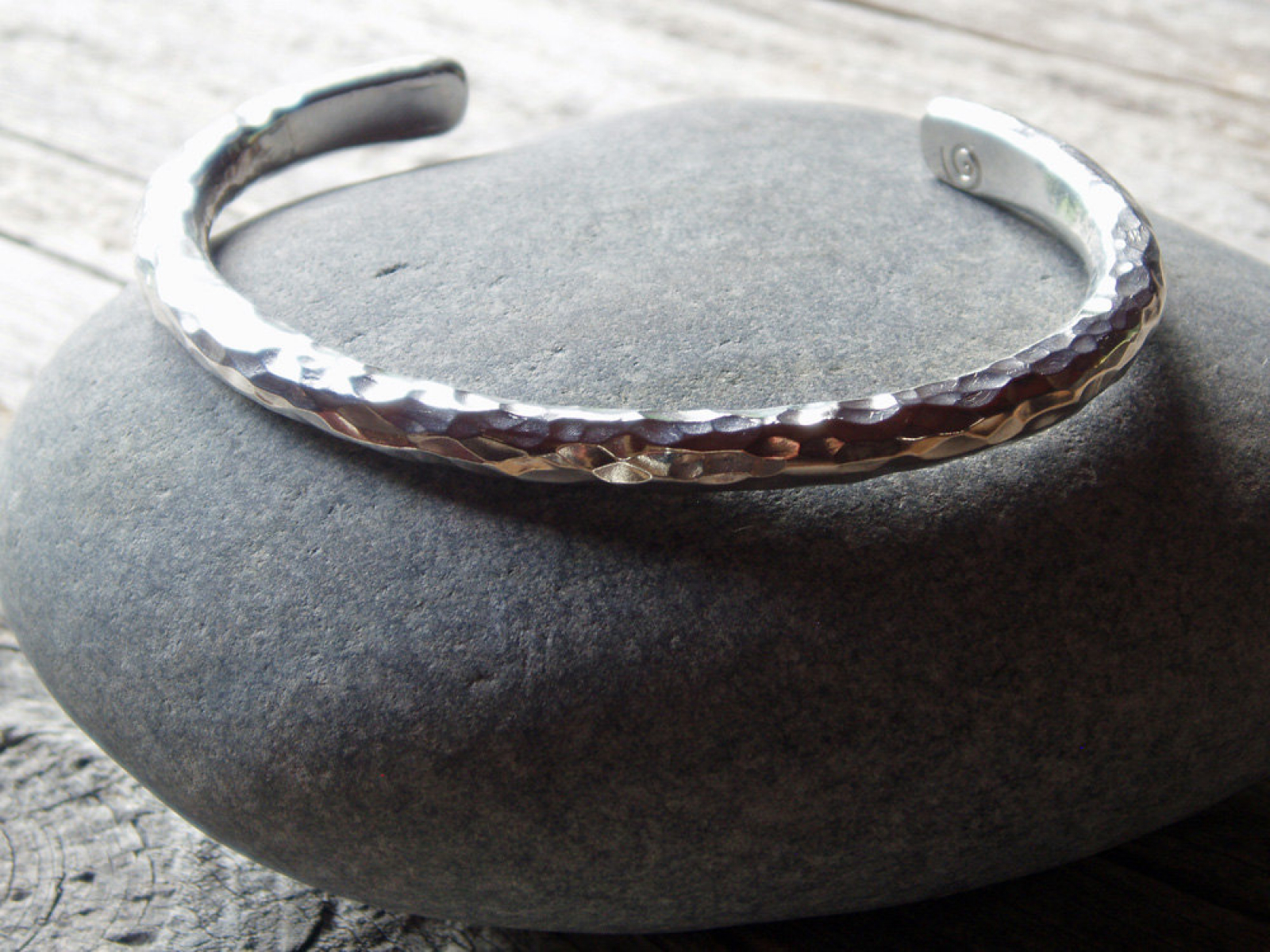 Bold Hammered Sterling Silver Cuff For Men