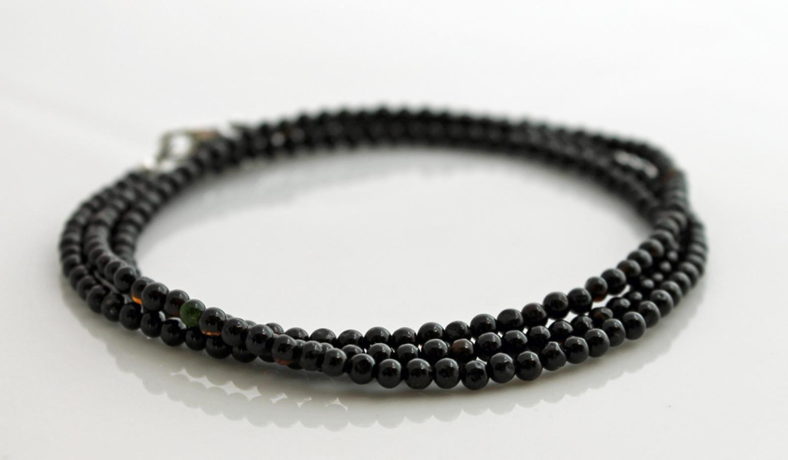 Mens Black Tourmaline Bracelet