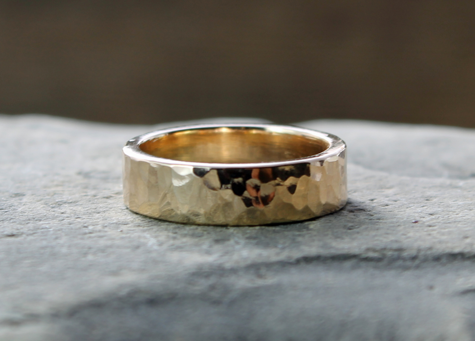 bands karat inlay wedding ring lashbrook with camo wood gold band yellow king kings