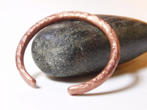 mens artisan hammered copper cuff