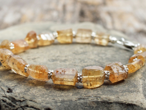 golden imperial topaz bracelet w/ sterling silver accents